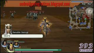 Jujur saya ga tahu kalau game ini ternyata juga rilis di PSP  Game:  Warriors Orochi 2, Sekeren versi PS2nya