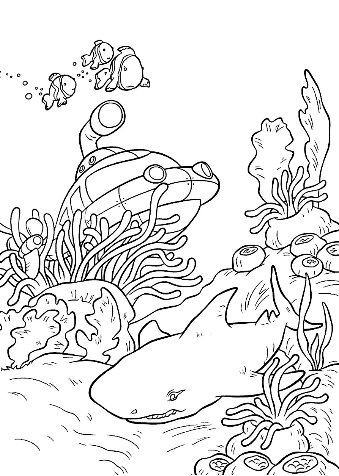 110 Sketsa Gambar Pemandangan Bawah Laut