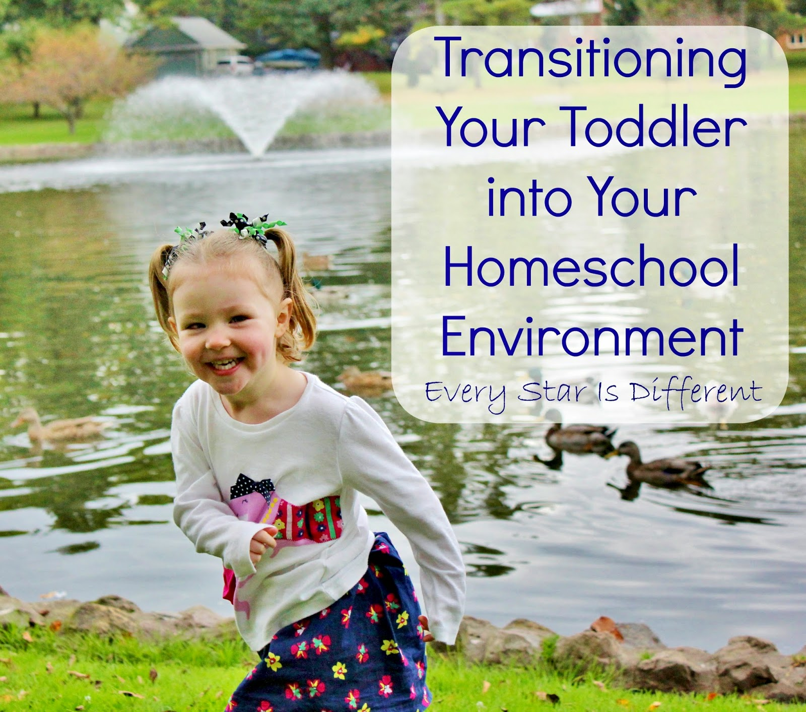 Transitioning Your Toddler Into Your Homeschool Environment