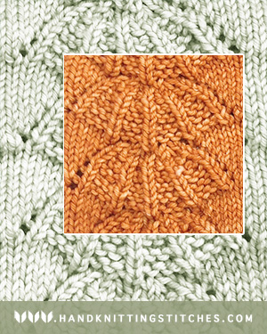 Hand Knitting Stitch Patterns - Parasol Lace Pattern