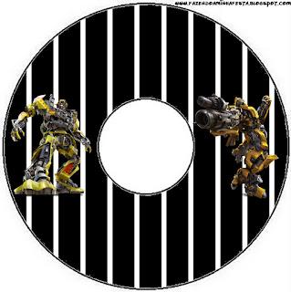 Etiquetas de Transformers para CD's.