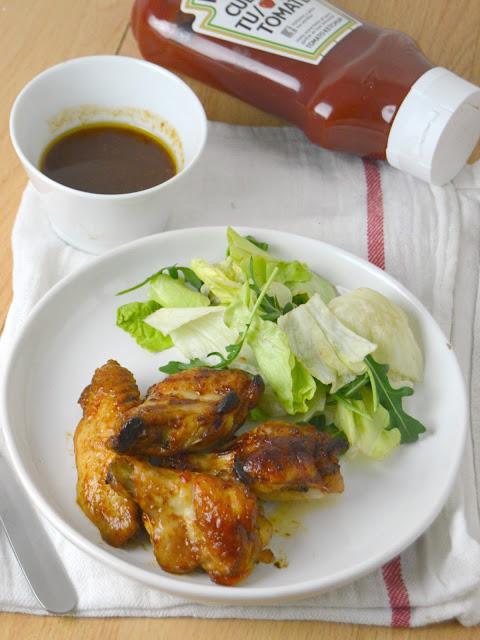 Alitas al horno con salsa agridulce de ketchup Heinz
