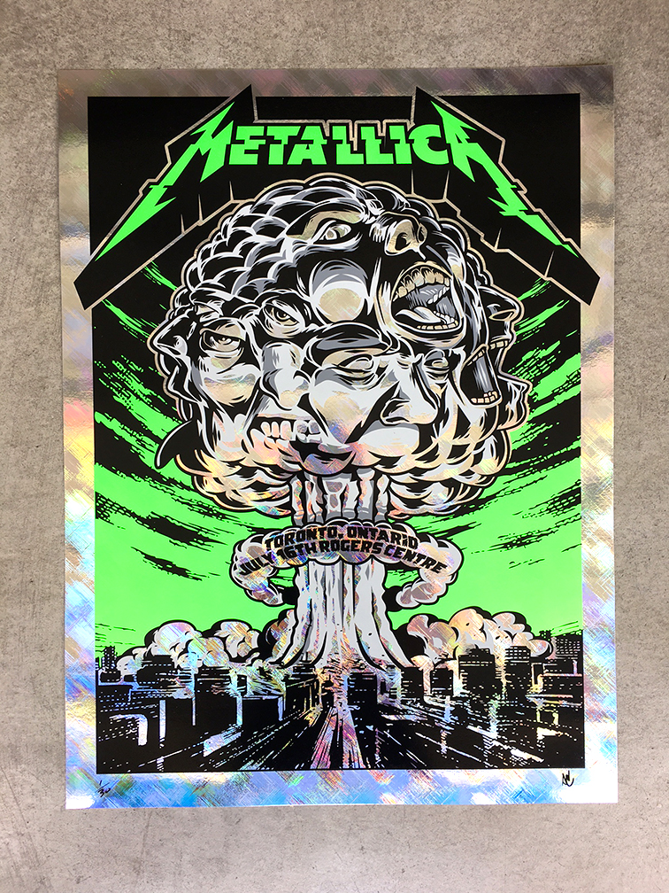 inside the rock poster frame blog acorn metallica toronto