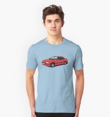 peugeot 405 redbubble t-shirt t-paita