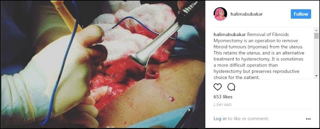Nigerian Actress Halima Abubakar Post after Fibroid Surgery in India