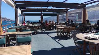 Terraza, planta alta del restaurante La Patacha