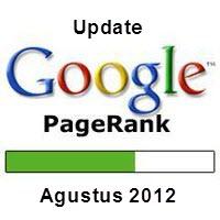 Google Pagerank Update Agustus 2012