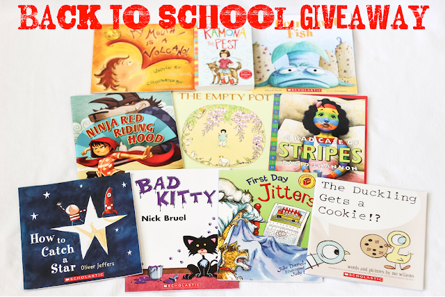 Back to School Book Giveaway You could win for you and a friend.  10 of our (www.packerclan.com and I) favorite books, b/c starting this school year off with awesome books is a great way to start.  teachers, parents, kidlit, picture books read alouds, great books Alohamora Open a Book http://alohamoraopenabook.blogspot.com/