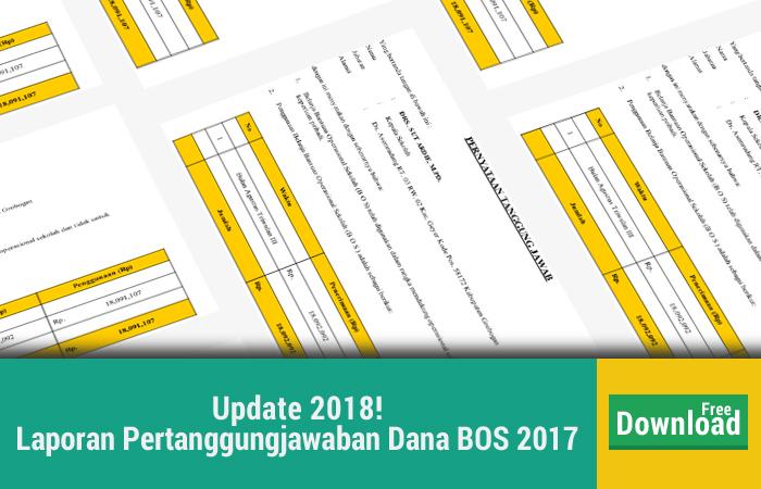 Contoh Laporan Pertanggungjawaban Dana BOS 2017