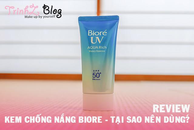 đánh giá sử dụng thử kem chống nắng biore