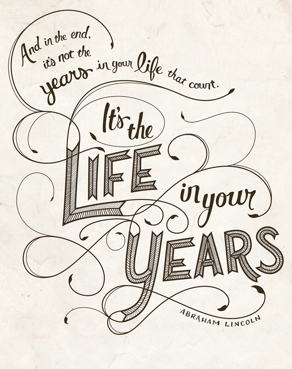 Life in your years // Monday Quotes / Powerful Positivity