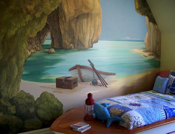 Pinturas murales para dormitorios for Murales de pared para dormitorios