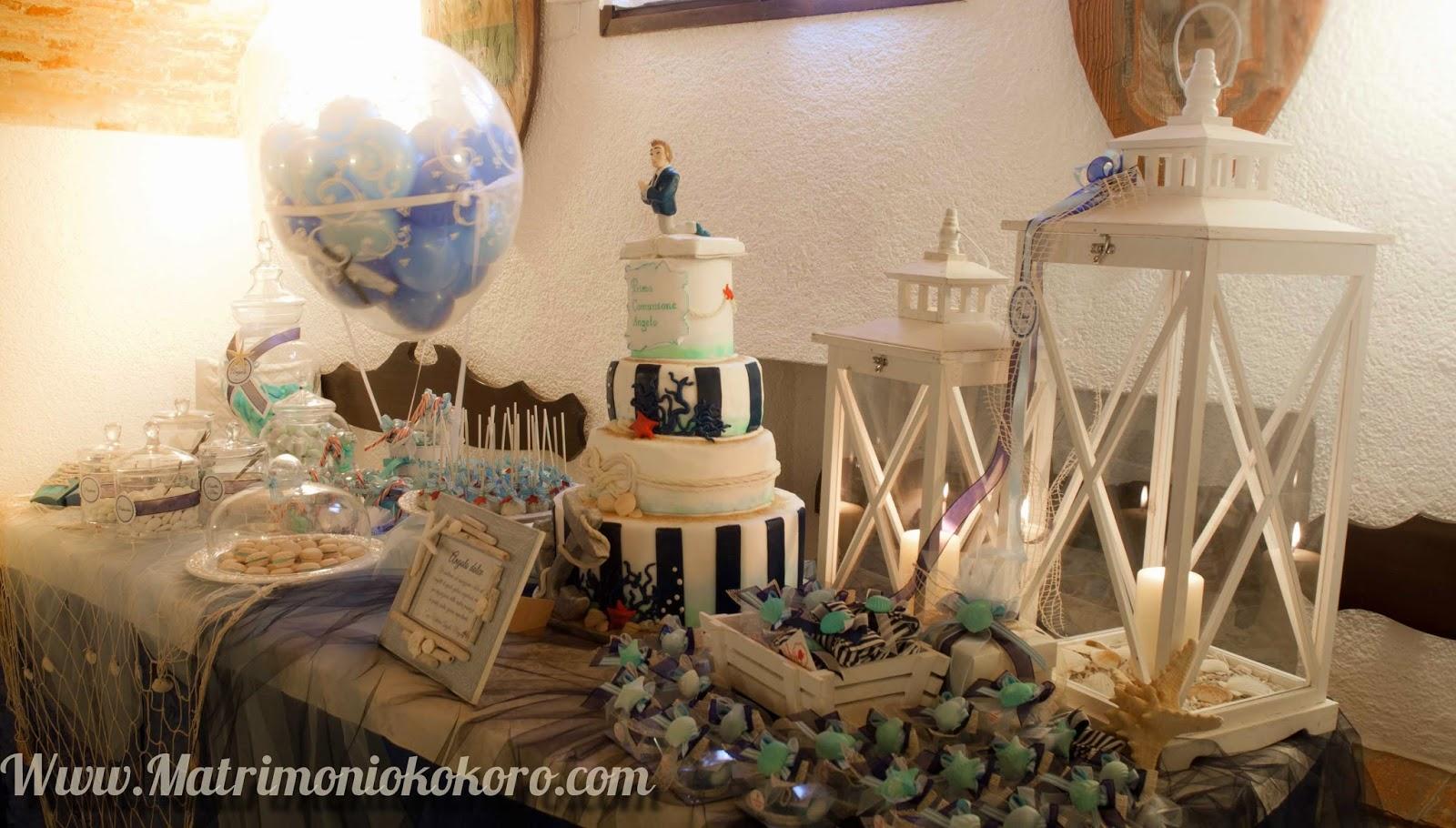 Kokoro sposi matrimoni battesimi bomboniere padova treviso for Decorazioni torte tema mare