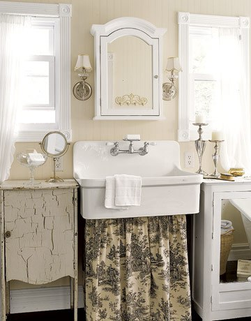 vintage bathroom decor ideas decora 231 227 o barata cortina para pia reciclar e decorar 22571