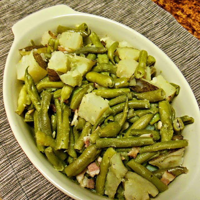 Southern Green Beans, with Potatoes and Bacon