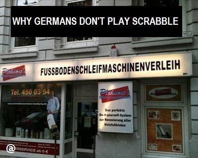 Porque los alemanes no juegan al scrabble