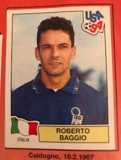 Roberto Baggio figurina Usa94