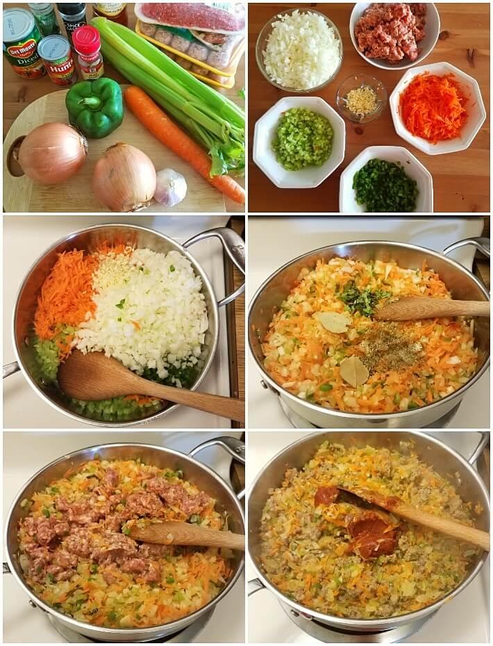 Paso a paso en la preparación de la salsa boloñesa, primera parte