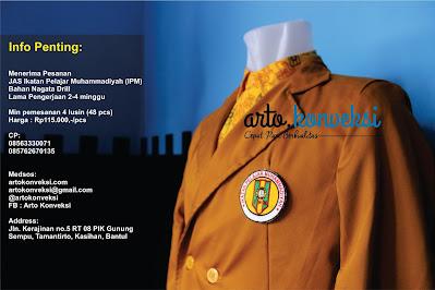 Jual/ Order Jas, Kemeja, Jaket, Kaos dan Topi Custom Ikatan Pelajar Muhammadiyah (IPM)