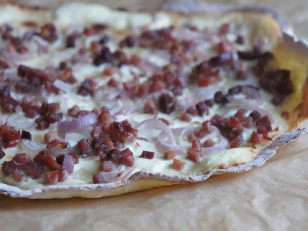 REZEPT: glutenfreier Flammkuchen