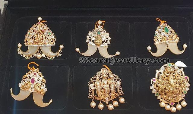 Puligoru Pendants with Lakshmi Ganesh
