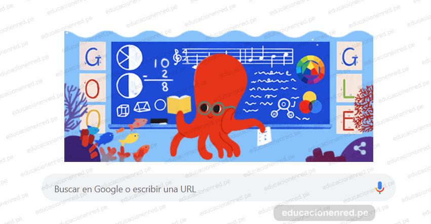 Google saluda a los maestros peruanos en su día con un divertido doodle (6 Julio)