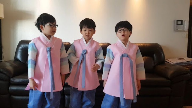 三胞胎大韓民國萬歲 2018年拜年 風暴成長越來越帥氣 - 超人回來了