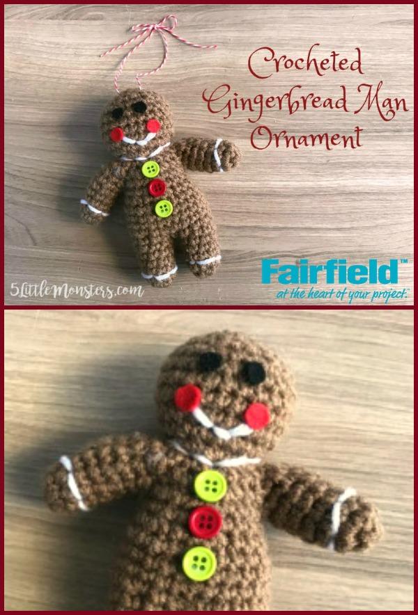 5 Little Monsters Gingerbread Man Ornament