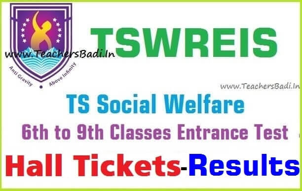 TSWREIS 6th,7th,8th,9th classes entrance test results 2017