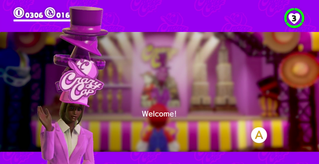 Super Mario Odyssey New Donk City Crazy Cap woman of color black cashier
