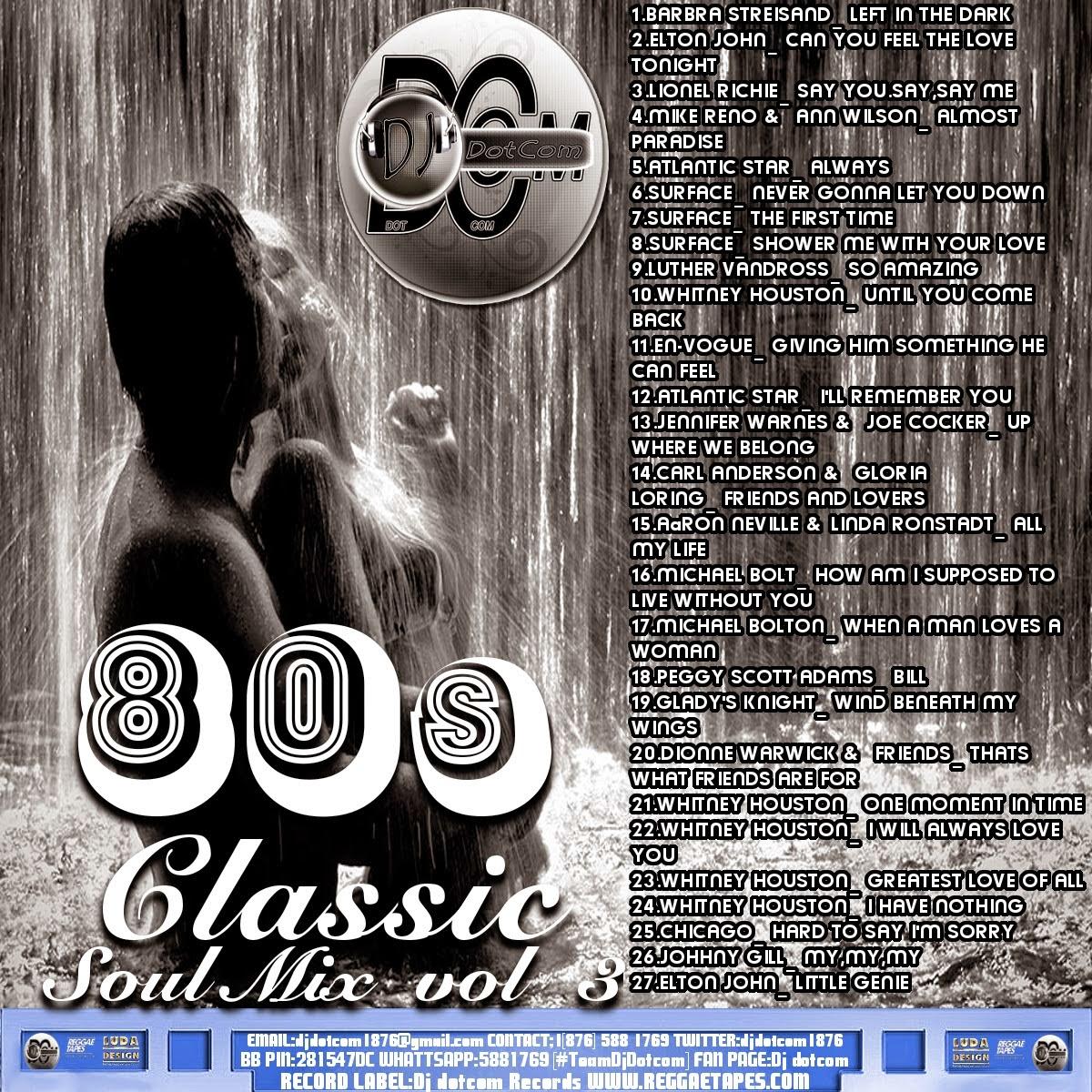 REGGAETAPES: DJ DOTCOM - 80S CLASSIC SOUL MIX VOL 3