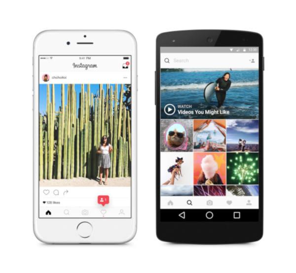 Instagram app και long videos