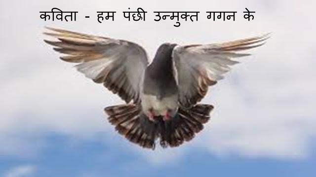 कविता - हम पंछी उन्मुक्त गगन के Heart Touching poem image