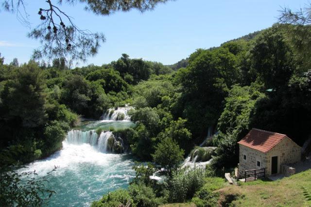 Kroatië, Nationaal Park Krka, watervallen