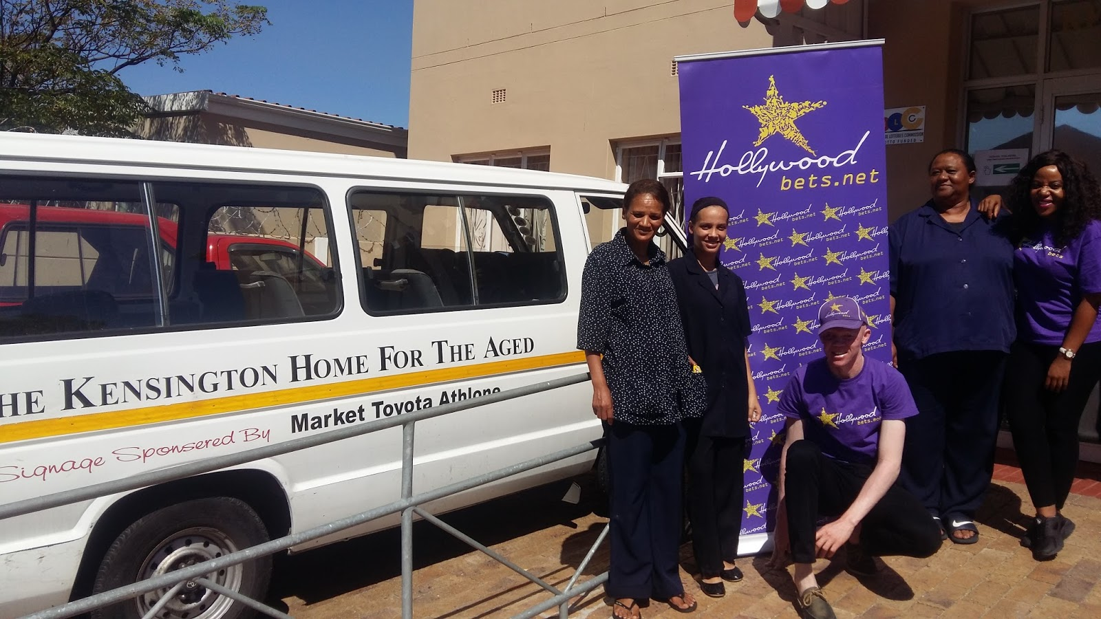 Kensington Home for the Aged staff members are thankful for the support from Hollywoodbets Vasco