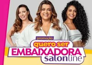 Cadastrar Promoção Salon Line 2019 Quero Ser Embaixadora - 1 Ano Produtos Grátis