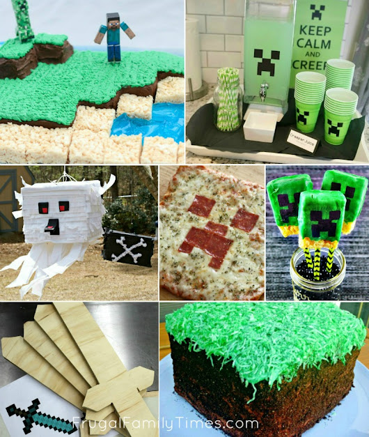 The Most Amazing Minecraft Party Ideas: Crafts, Food, Games, Decor and more!