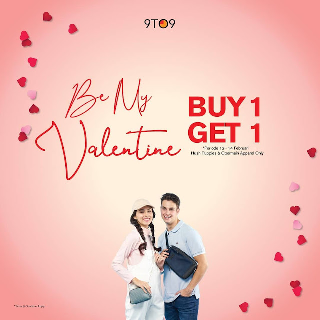 #9to9 - #Promo Buy 1 Get 1 Free Hush Puppies & Obermain Apparel (s.d 14 Feb 2019)