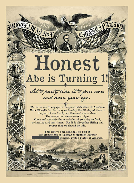 Honest Abe Turns 1!
