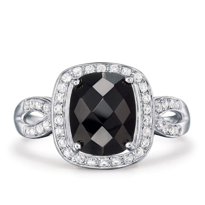 Avon Sterling Silver Black Onyx Ring