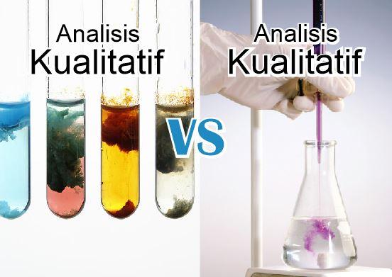 perbedaan analisis kualitatif dan kuantitatif dalam analisis kimia