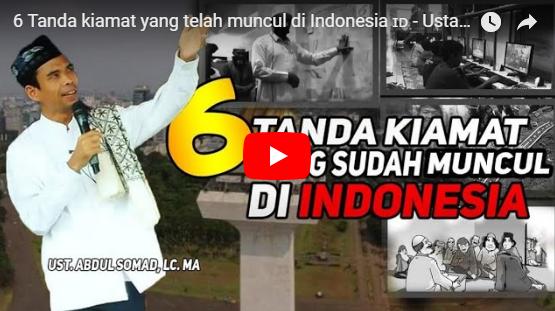 Video Ceramah Ustadz Somad Seputar Seringnya Gempa, Tanda Semakin Dekatnya Hari Kiamat