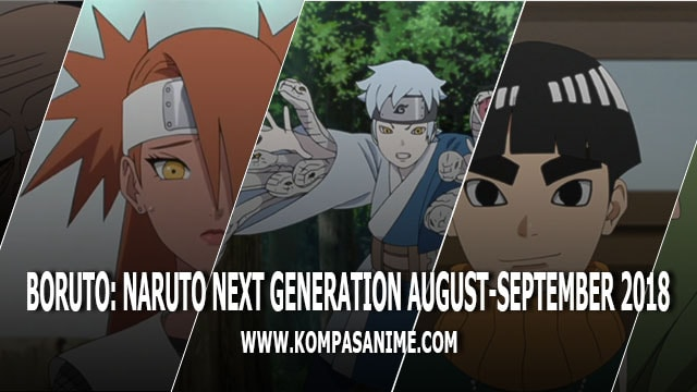 Jadwal Rilis Anime Boruto Naruto Next Generation Bulan Agustus - September 2018