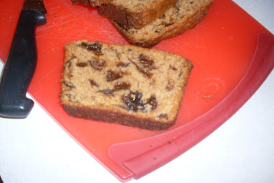 Cinnamon Prune Bread, delicious with spice, fruit and nuts.