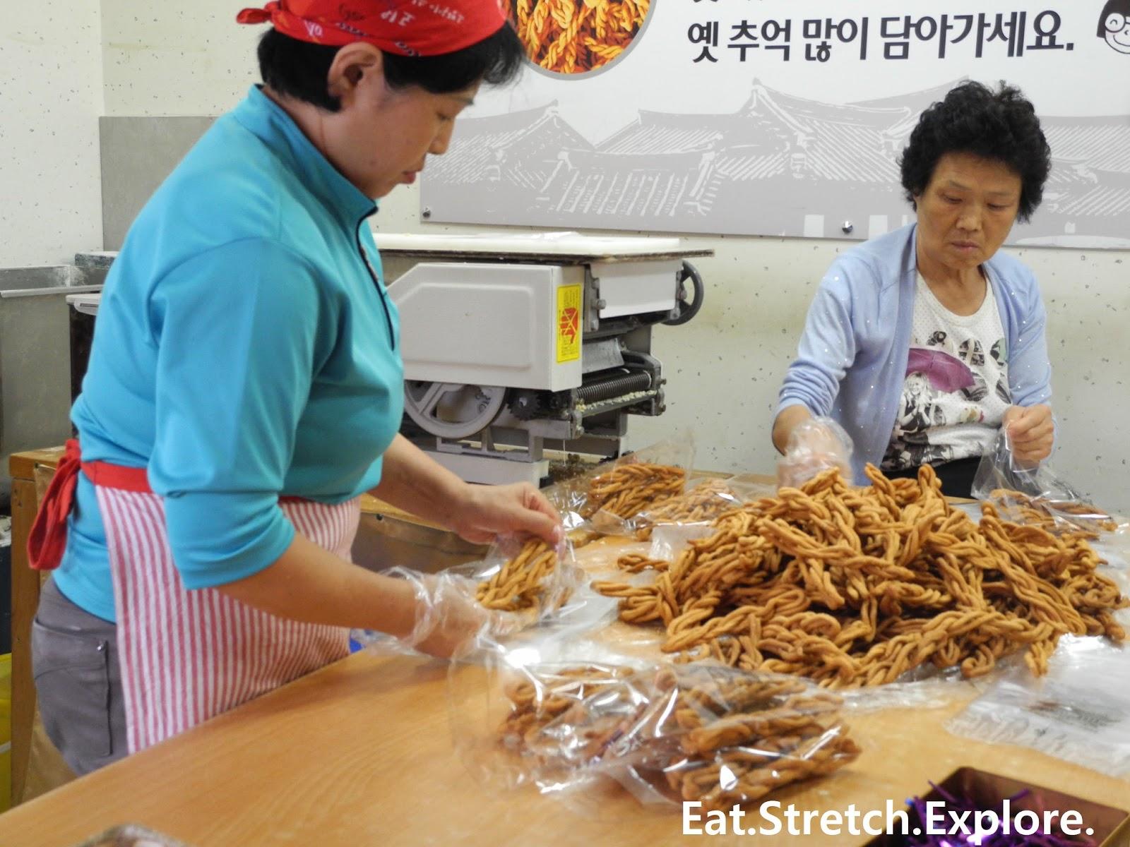 Jeonju  Twisted Breadsticks At Jeonju Hanok Village   Uc804 Uc8fc