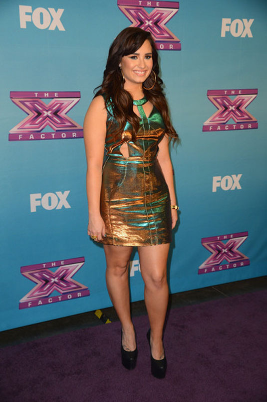 Demi Lovato at The X Factor Season Finale Night 2 in Los Angeles