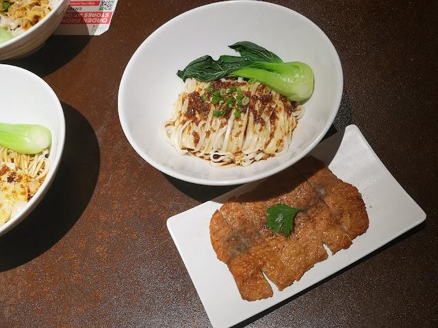 Signature noodles with Pork Chop