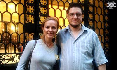 Amy McAllister e eu após a apresentação dela no CCBB Rio de Janeiro
