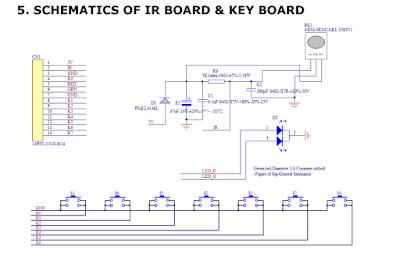 Esquema do teclado de placa universal de LCD