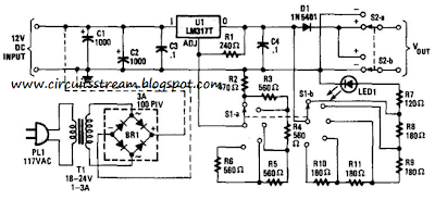 Simple Variable Dc Supply Step Circuit Diagram